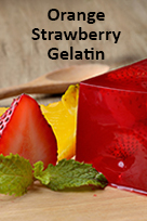 Orange Strawberry gelatin