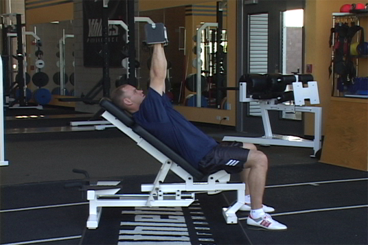 Bench Press - Incline Alternating Dumbbell