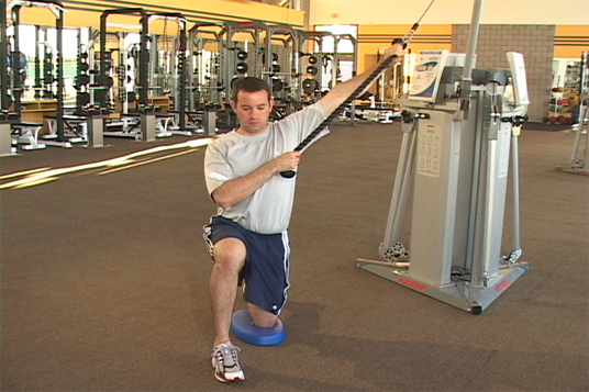 Cable Chop - Stability Linear Half Kneeling (Outside Forward)
