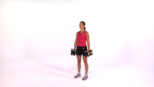Curl to Overhead Press - Standing Dumbbell