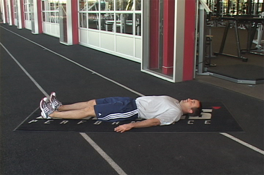 Glute Bridge - Supine Straight Leg Marching