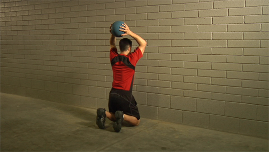Medicine Ball - Overhead Throw - Kneeling