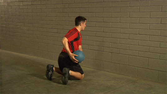 Medicine Ball - Parallel Throw - Kneeling