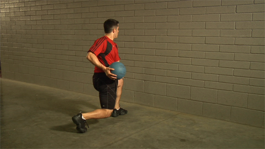 Medicine Ball - Parallel Throw - Split Stance