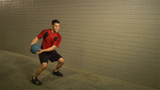 Medicine Ball - Perpendicular Throw – Standing