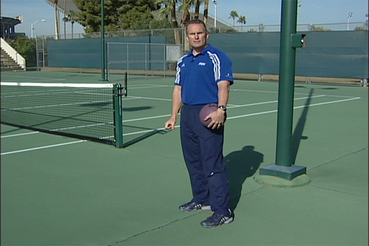 Medicine Ball - Rotational Overhead Slam - Tennis