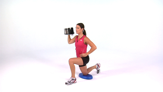 Overhead Press - Half Kneeling 1 Arm Dumbbell
