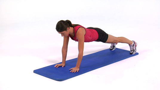 Plank - with Arm Lift