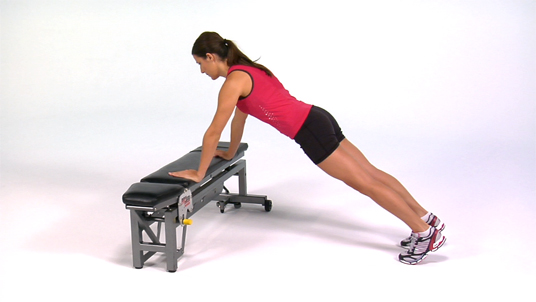 Push-up - On Bench