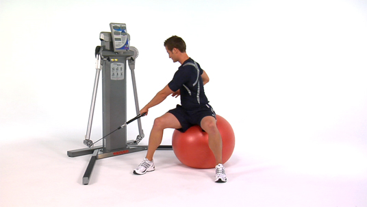 Rotational Row - 1 Arm Cable (Stability Ball)