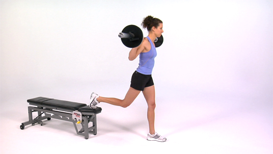 Split Squat - Back Foot Elevated Barbell