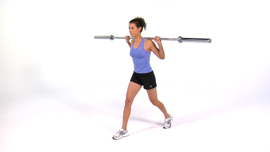 Split Squat - Barbell (1/2 Range)