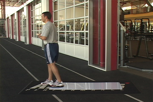 Split Squat - Slideboard