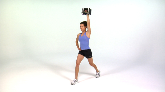 Split Squat to Overhead Press - 1 Arm Dumbbell