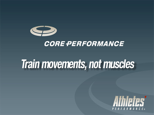 Train Movements, Not Muscles